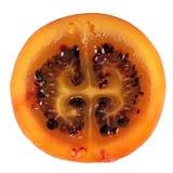 Кусок плодоовощ томата дерева tamarillo изолированного на белой предпосылке Стоковое Изображение
