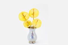 Кусок пути клиппирования лимона изолированного плодоовощ Стоковая Фотография RF