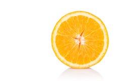 Кусок свежего апельсина изолированный на белой предпосылке Стоковые Изображения RF