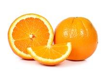 Кусок свежего апельсина на белой предпосылке Стоковые Изображения RF