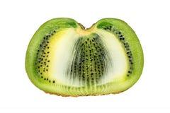 Кусок свежего плодоовощ кивиа изолированного на белой предпосылке Стоковое Фото