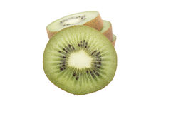 Кусок свежего плодоовощ кивиа изолированного на белизне Стоковое Изображение