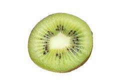 Кусок свежего плодоовощ кивиа изолированного на белизне Стоковая Фотография