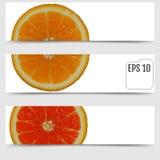 Кусок свежего сочного апельсина на белой предпосылке свеже бесплатная иллюстрация