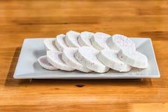 Кусок таро на блюде Стоковые Изображения RF