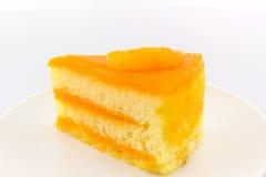 Кусок торта апельсинов, торт плодоовощ Стоковое Изображение