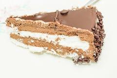 Кусок торта просвирника шоколада Стоковая Фотография RF