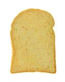 Кусок хлеба здравицы изолированного над белизной Стоковое Изображение