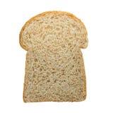 Кусок хлеба здравицы изолированного на белой предпосылке Стоковые Фотографии RF