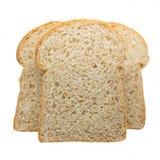 Кусок хлеба здравицы изолированного на белой предпосылке Стоковое Фото