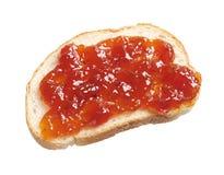 Кусок хлеба с вареньем стоковое фото rf