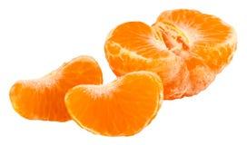 Кусок цитрусовых фруктов апельсина мандарина изолированный на белизне Стоковая Фотография