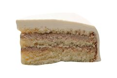 Кусок чизкейка на белизне стоковое фото
