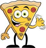 Кусок шаржа развевать пиццы Стоковое Фото