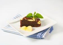 Кусок шоколадного торта с сыром Стоковые Изображения