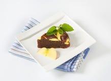 Кусок шоколадного торта с сыром Стоковая Фотография