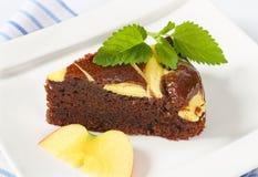 Кусок шоколадного торта с сыром Стоковое фото RF