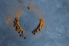 кухни кофе фасолей предпосылки текстура красивейшей родственная стоковая фотография rf