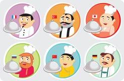 кухни национальные иллюстрация штока