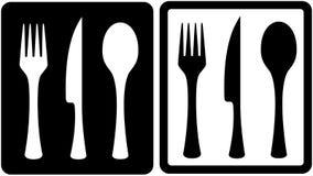 кухни 20 утварь цветастой лоснистой икон установленная Стоковое Изображение