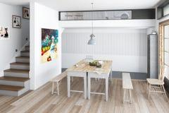 Кухня: восстановленное зачатие иллюстрация штока