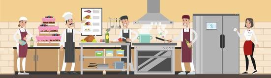 Кухня в ресторане бесплатная иллюстрация