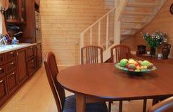 кухня деревянная Стоковые Изображения RF