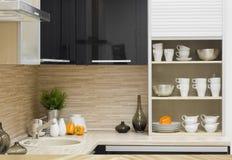 кухня детали самомоднейшая Стоковая Фотография RF
