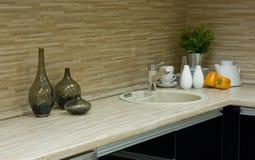 кухня детали самомоднейшая Стоковые Фотографии RF