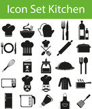 Кухня значка установленная иллюстрация штока