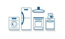 кухня икон дома конструкции приборов установила вашим Стоковое Изображение RF