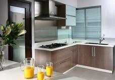 кухня интерьера конструкции Стоковая Фотография RF
