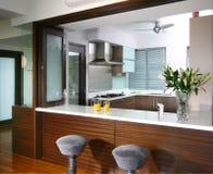 кухня интерьера конструкции Стоковая Фотография