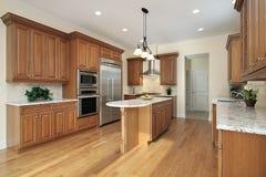 кухня конструкции домашняя новая Стоковое Изображение RF