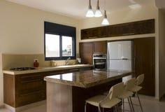 кухня конструкции новая Стоковые Фотографии RF