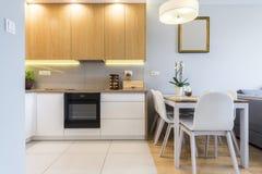 кухня конструкции нутряная самомоднейшая Стоковая Фотография RF