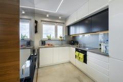 кухня конструкции нутряная самомоднейшая Стоковые Фотографии RF