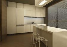 кухня конструкции 3d Стоковые Фотографии RF