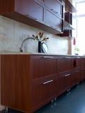 кухня мебели новая Стоковая Фотография
