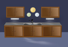 кухня мебели Стоковое фото RF