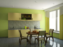 кухня мебели Стоковое Фото