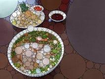 Кухня мозаики иллюстрация штока