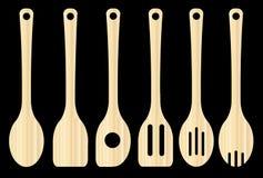 кухня оборудует деревянное бесплатная иллюстрация
