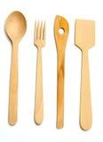 кухня оборудует деревянное Стоковое фото RF
