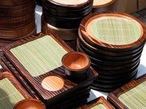 кухня оборудует деревянное Стоковое Изображение RF