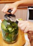 кухня огурцов консервации Стоковое Изображение RF