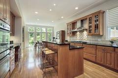 кухня острова палубы двойная Стоковые Фото