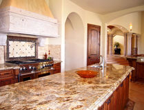 кухня острова Стоковое Фото