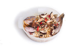 Кухня перца китайская морского окуня Steamed Стоковые Фотографии RF