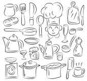 кухня притяжки Стоковые Изображения